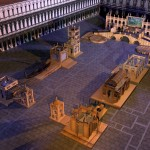 rendering dell'allestimento di piazza San Marco